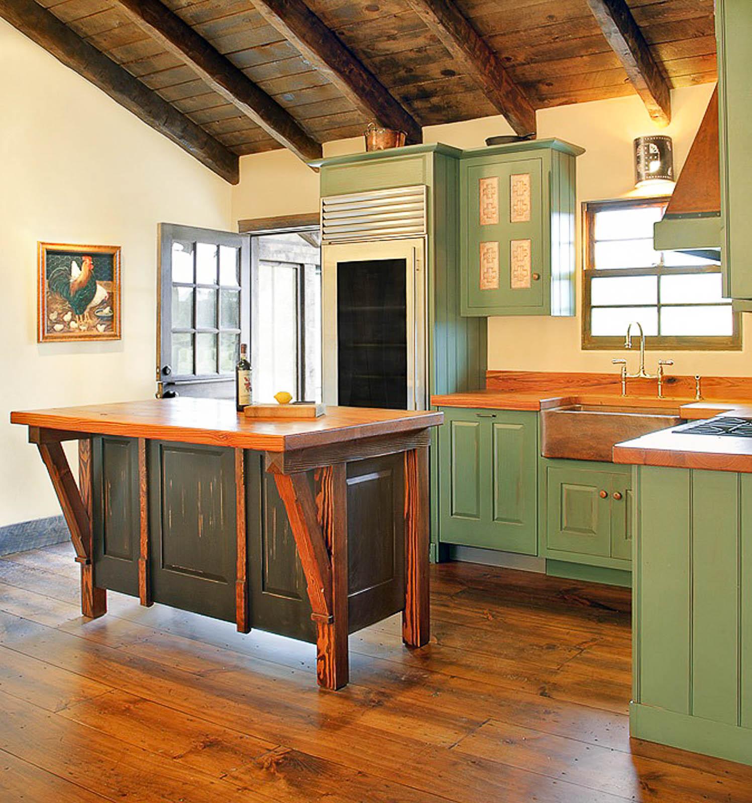 Mountain Cabin Kitchen La Veta Colorado Alan Powell Design